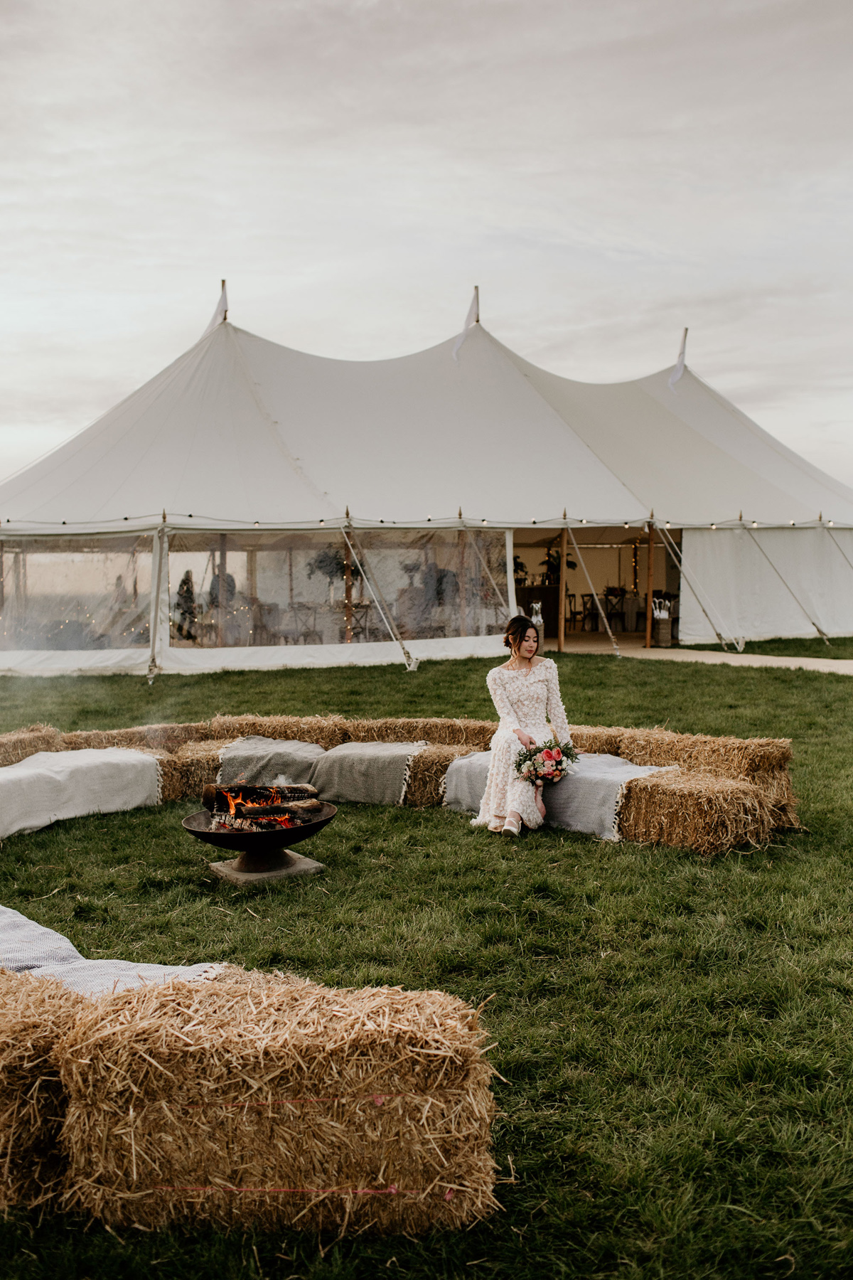 Ethical outdoor wedding sailcloth tent - Ethical and Sustainable Marquee Wedding Style That Respects The Environment