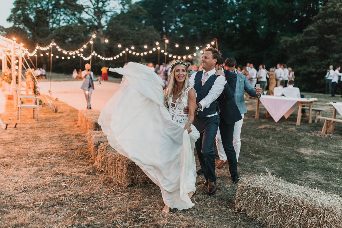Margaux Tardits dress papakata tipi Yorkshire wedding - AMargaux Tardits Dress for a Papakata Sperry Tent Wedding in Yorkshire