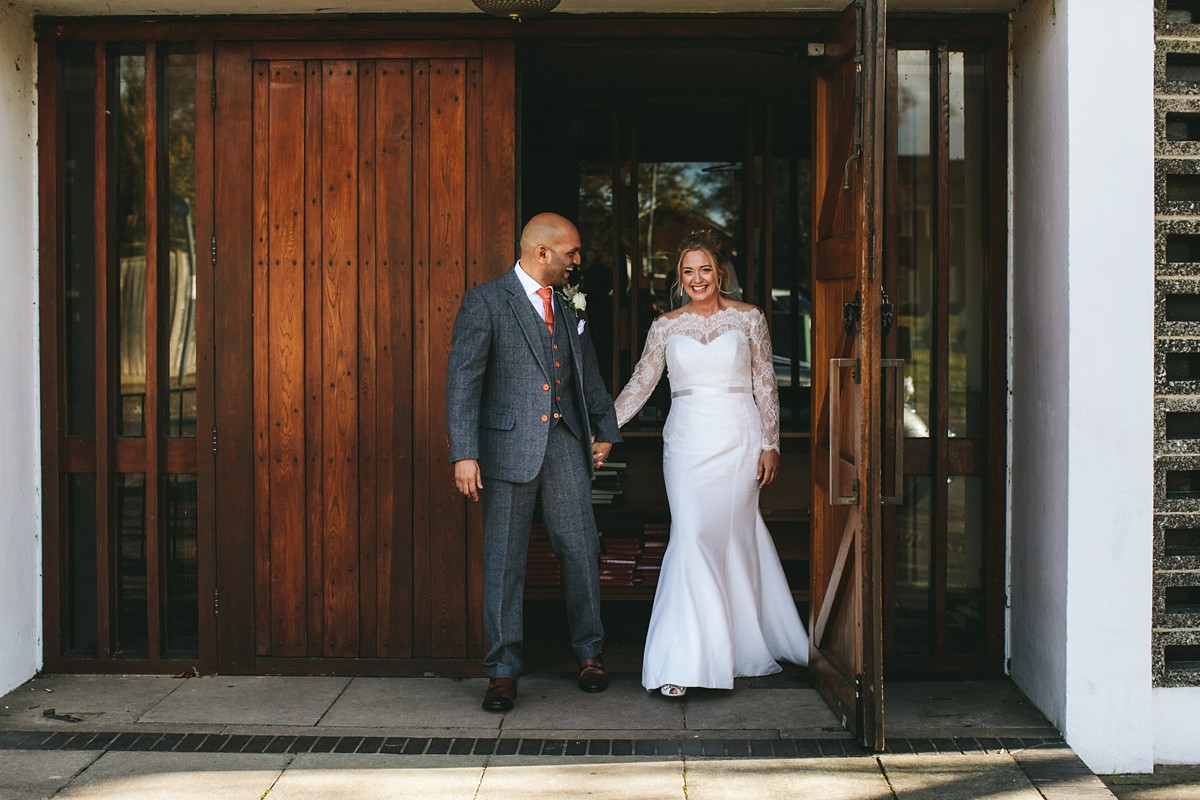 Suzanne Neville bride - A Suzanne Neville Bride in a Classic, Long-Sleeved Lace Dress for a Celestial Inspired Wedding at Hatfield House