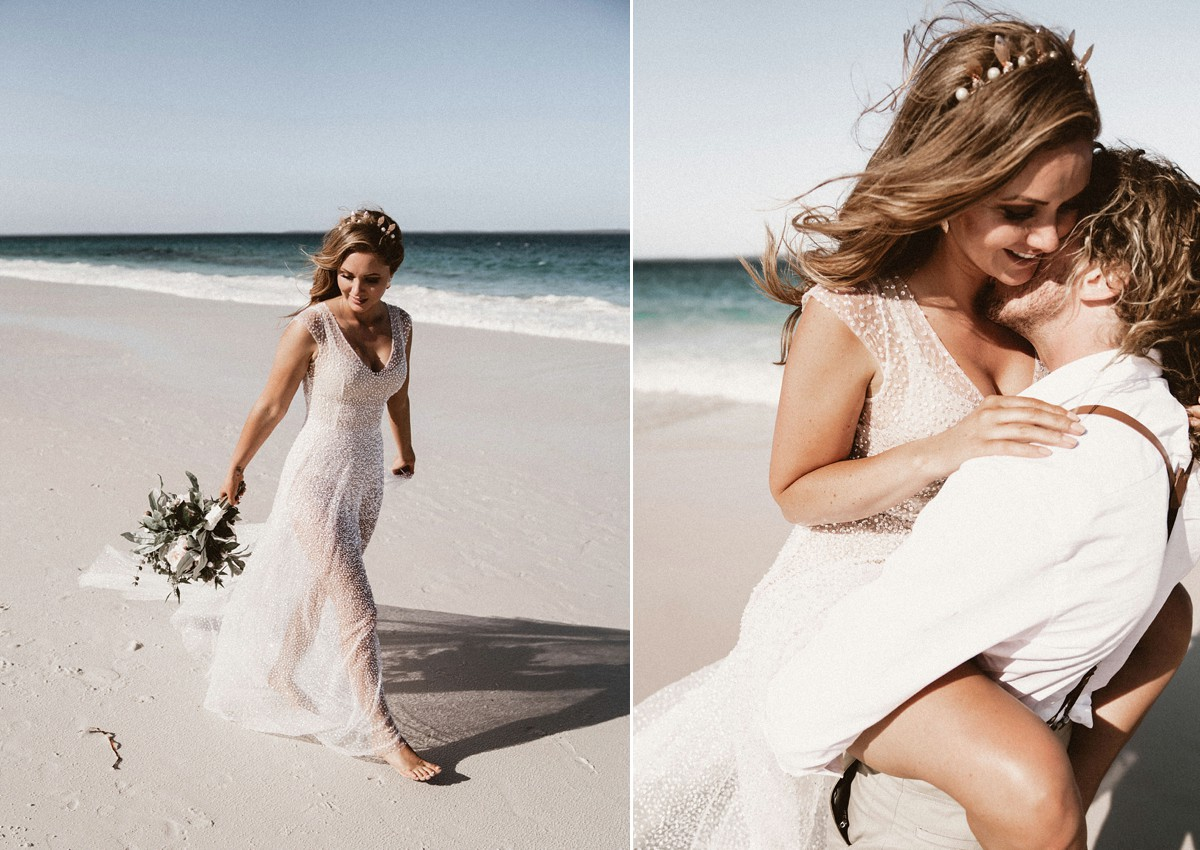 An Anna Campbell Bride And Her Coachella Festival Inspired Beach