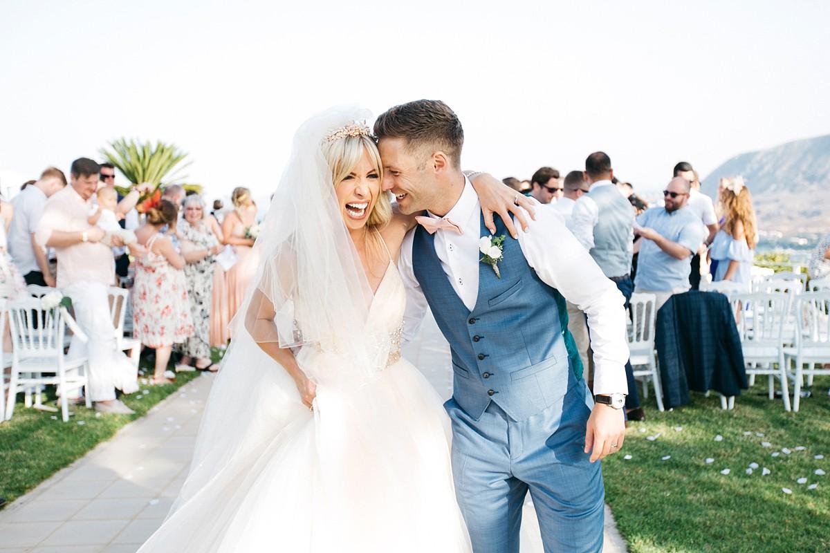 bc05fb478cc08 A Floral Sassi Holford Dress for Peach & Pastel Beach Wedding in ...