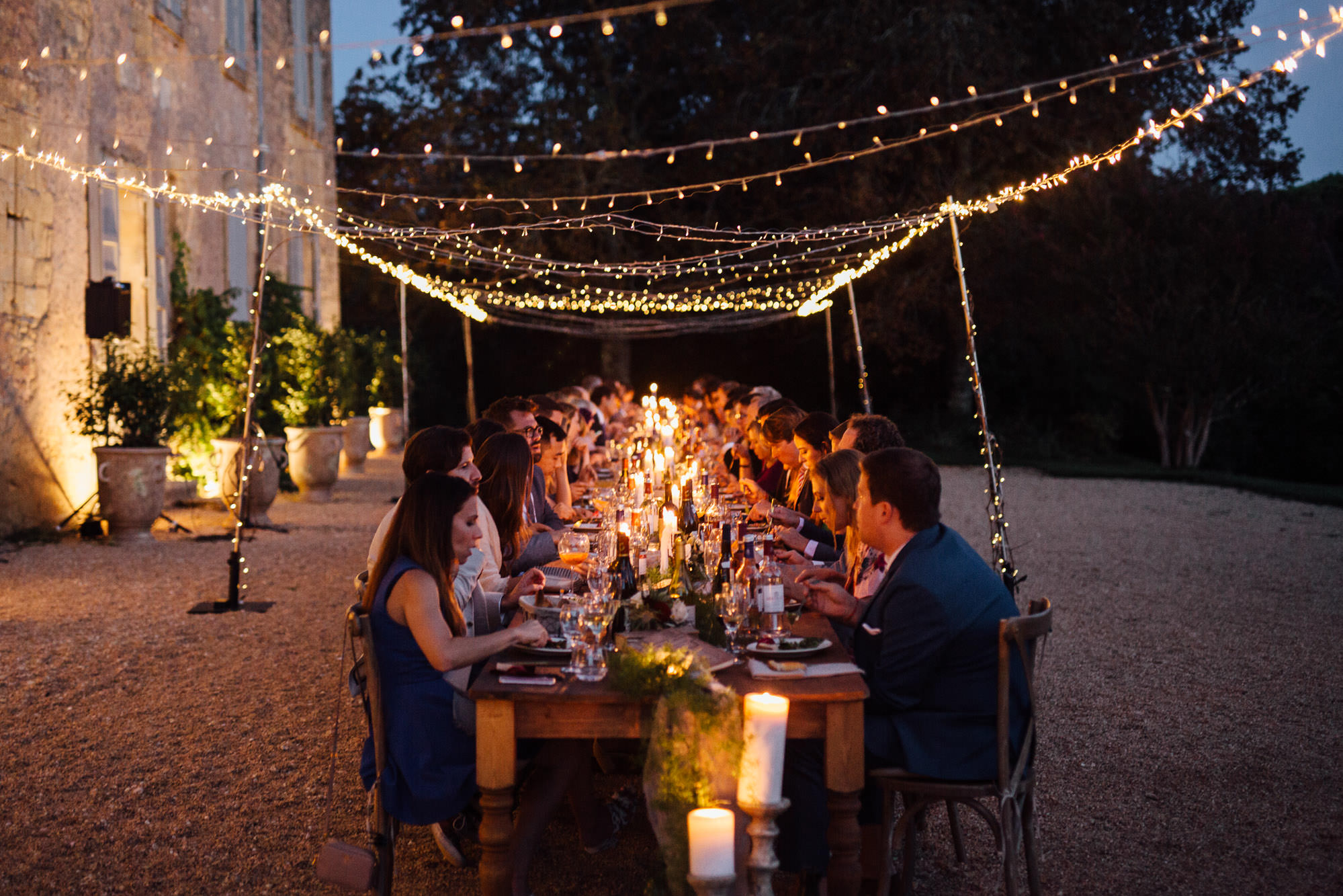 An Enchanting French Chateau Wedding With an Outdoor Feast