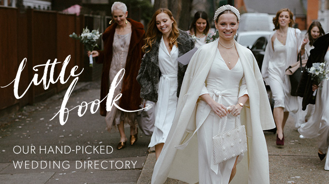 littlebook banner  - A Suzanne Neville Bride in a Classic, Long-Sleeved Lace Dress for a Celestial Inspired Wedding at Hatfield House