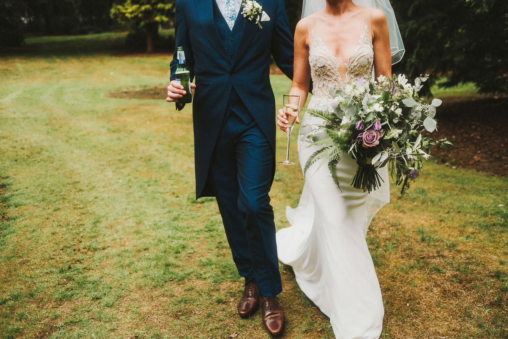 Enzoani Elegance + Wildflower Bouquets For A Country House