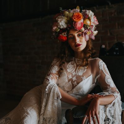 Spanish Bohemian Bridal Vibes, With Rue de Seine Dresses + Colourful Statement Flowers