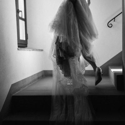 A Romantic + Elegant Italian Vineyard + Tuxedo Wedding in Tuscany with a Bride in Vera Wang