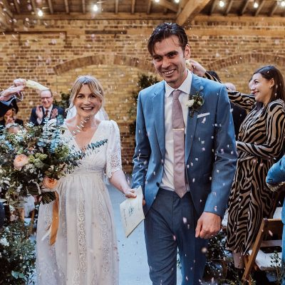 A 1970s Disco + New York Loft Party Inspired Winter Wedding at London Docklands