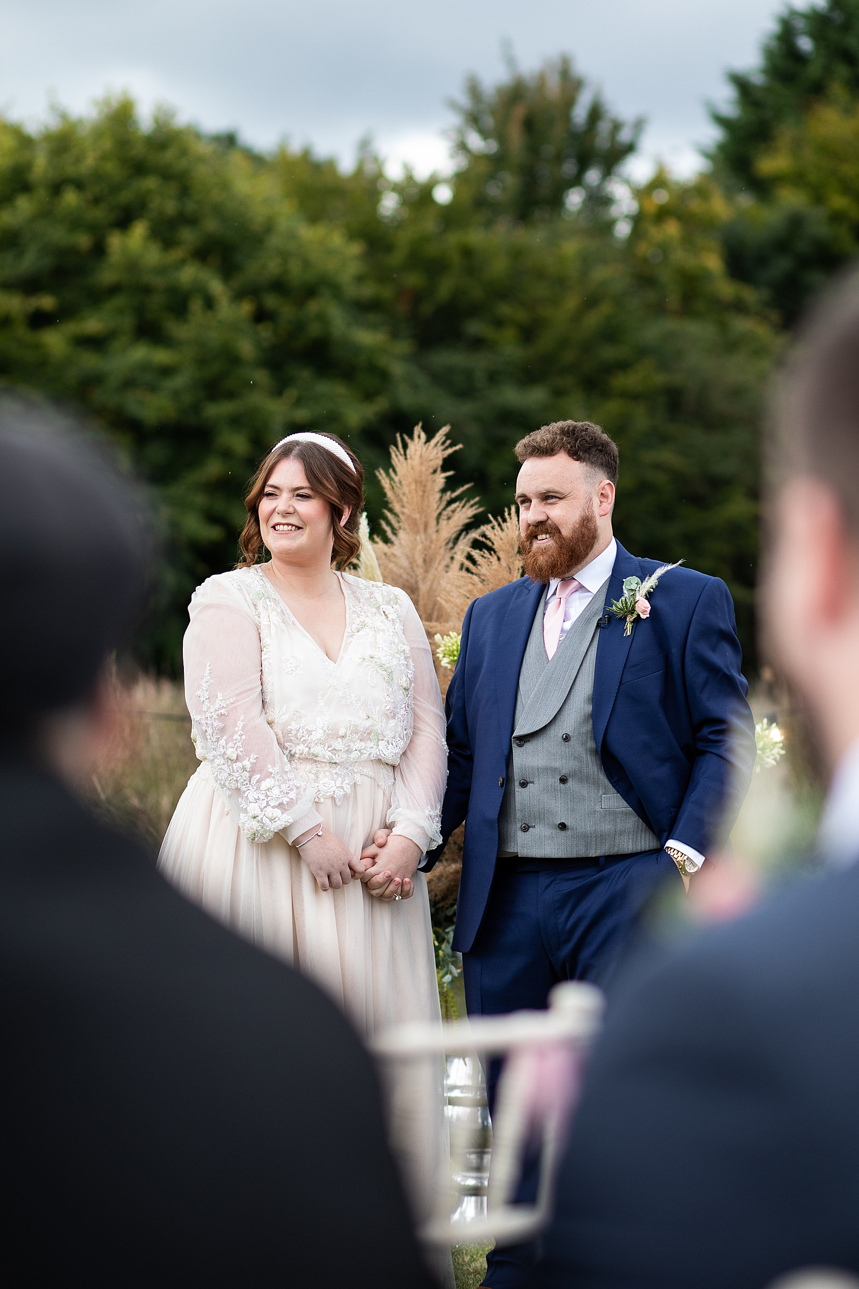 A Late Summer Meadow Wedding at Home with Pampas Grass + Paper ...