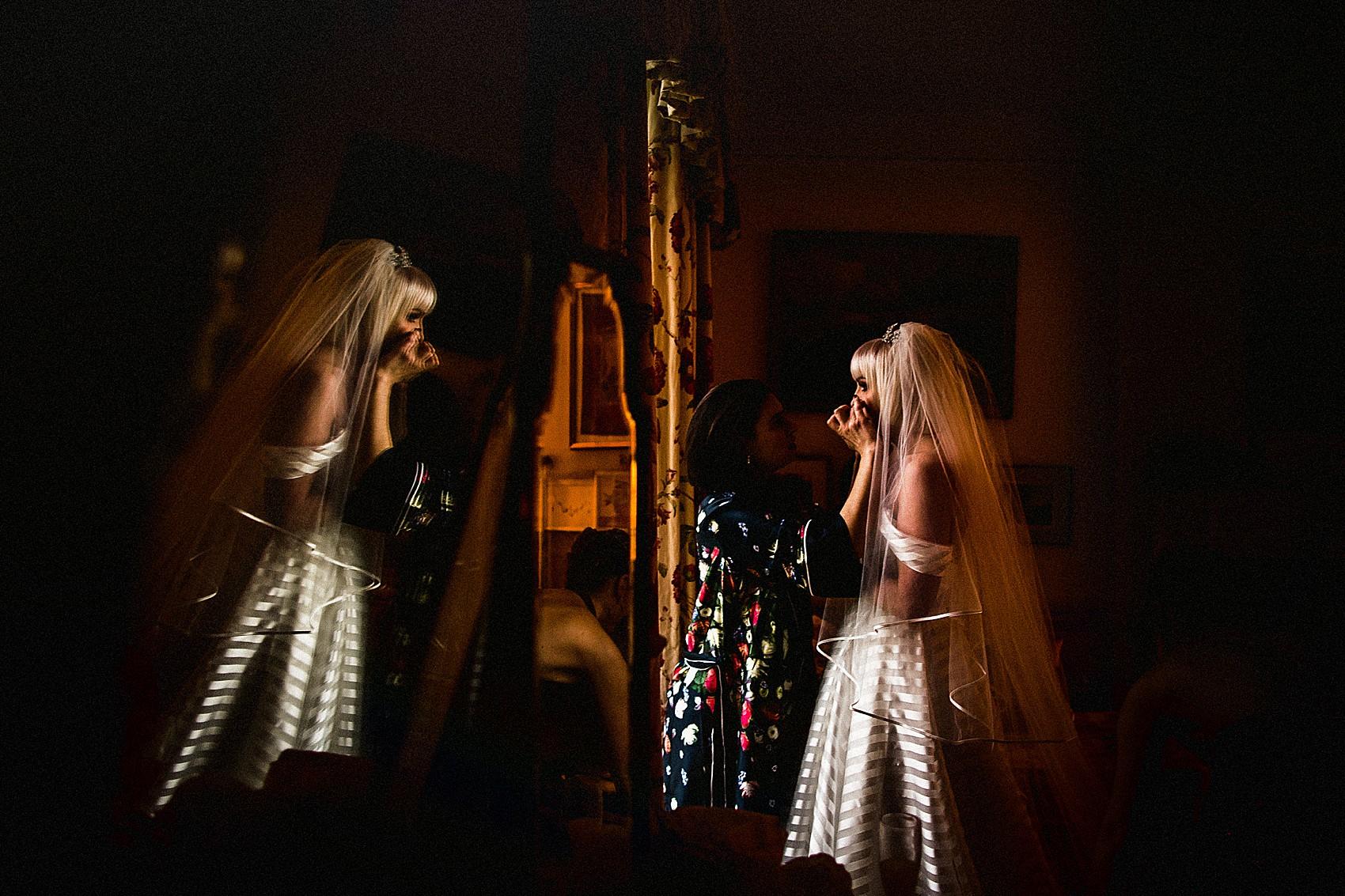 A Striped Hayley Paige Dress Sparkly Miu Miu Platforms