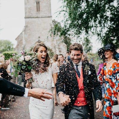 Modern Laure De Sagazan Chic For A Tinder Couple  & Their Wildflower Wedding in Wiltshire