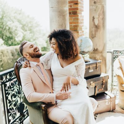Natural & Wild Wedding Inspiration at Port Lympne Hotel and Reserve, Featuring Rolling in Roses Ethical Wedding Dresses