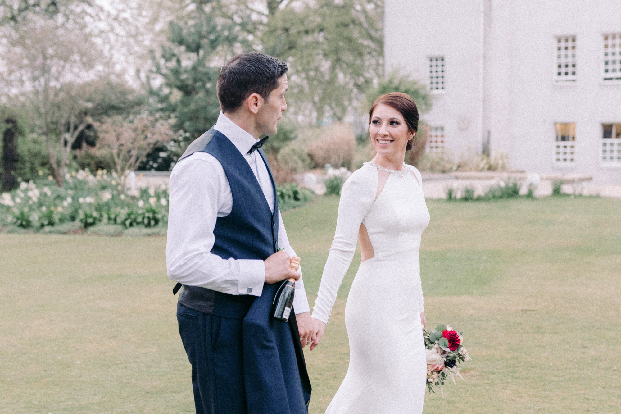 A Charles Rennie Macintosh Inspired Wedding With Bride In Sottero