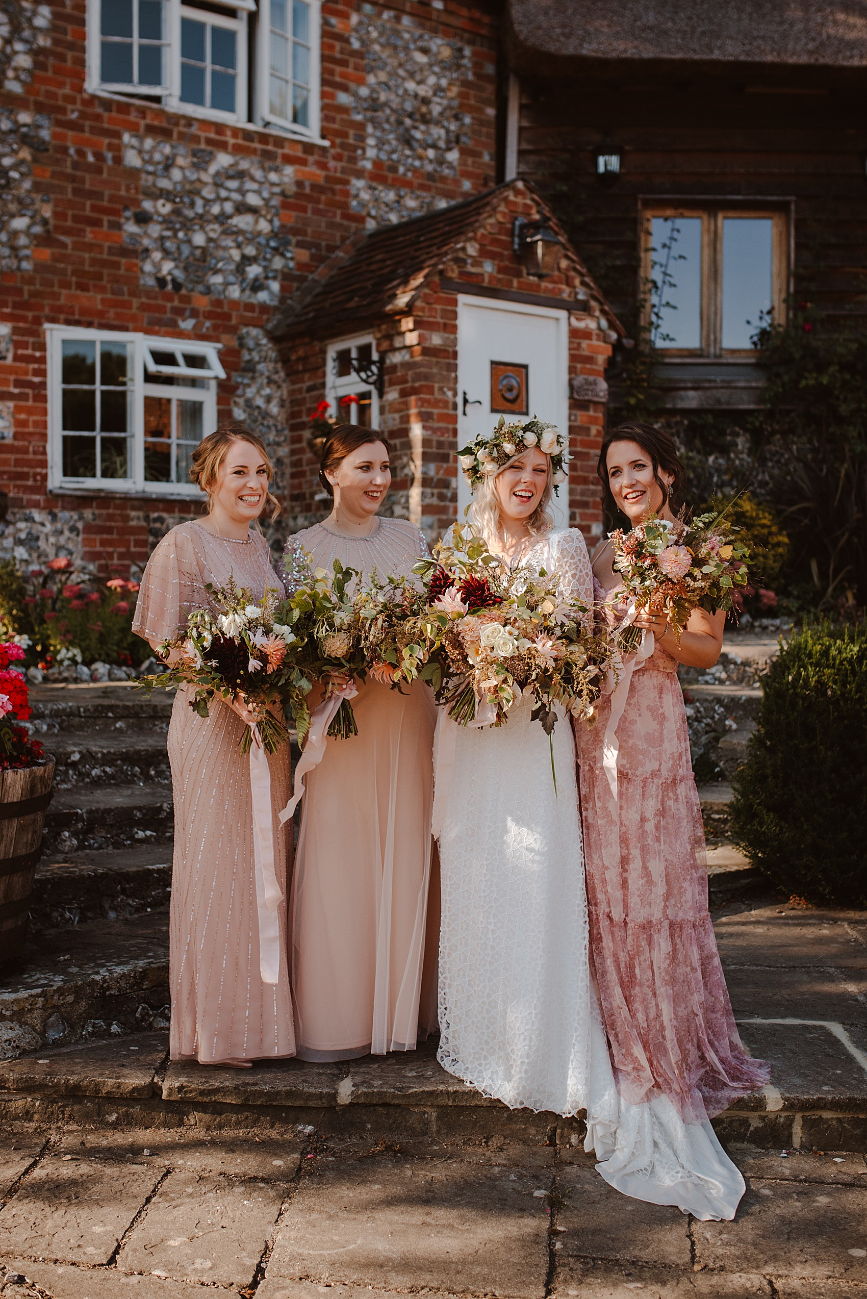 An Ethical Wedding Dress By Rolling In Roses For A Henley On