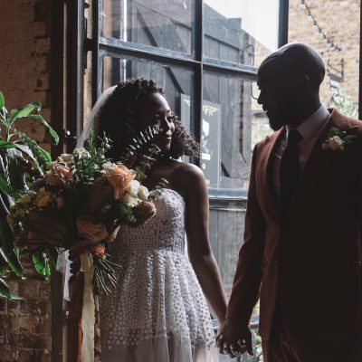 Modern + Intimate Wedding Inspiration + Authentic Vow Renewal, Featuring Black Suppliers & Set in an East End, Eclectic Venue
