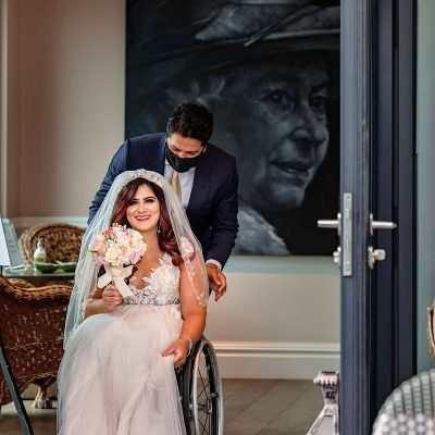 A Modern, Romantic London Micro Wedding For Disability Advocate 'Girl Rollin' About Town'