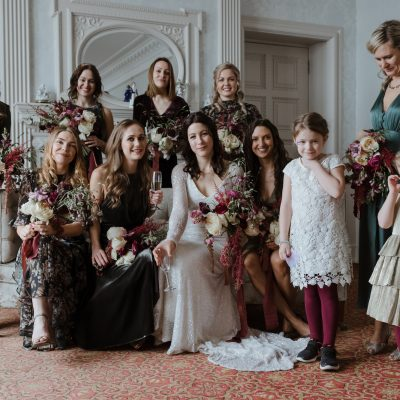A Snowy Winter Wedding in the Cairngorms, Scotland, with a Bride in Karen Willis Holmes