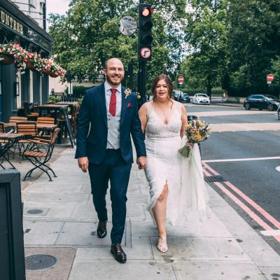 A Made With Love Dress for a Micro Wedding in the City and a Couple Who Met Online